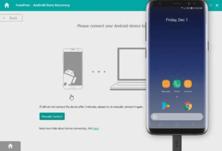 FonePaw connecting to Android