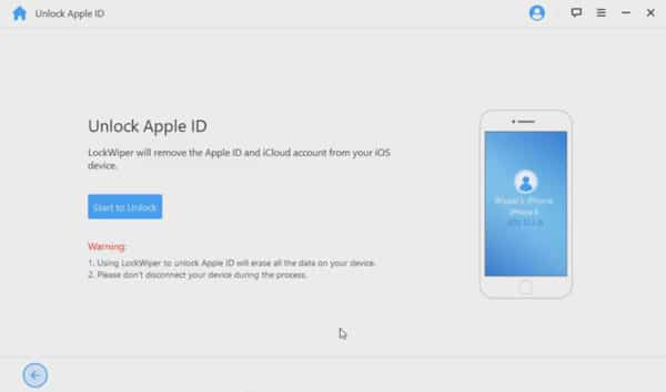 iMyFone LockWiper resets Apple ID