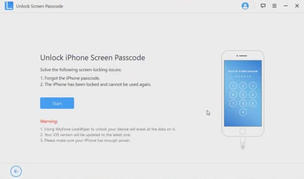 LockWiper iPhone password reset