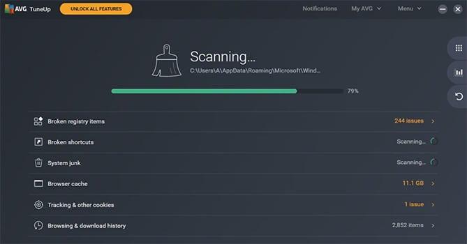 AVG TuneUp screenshot
