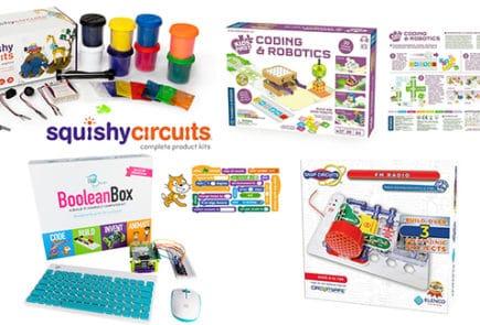 Various electronics kits for kids