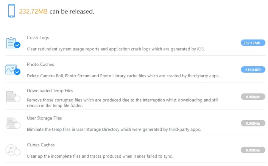 screenshot of iMyfone Umate Pro erasing private file fragments